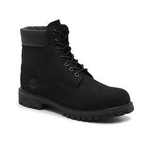"Timberland Matte Black Premium 6"" WaterProof Boot"